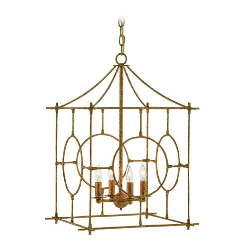 Currey and Company Lighting Currey and Company Lynworth Texturedgold Pendant Light 9000-0013