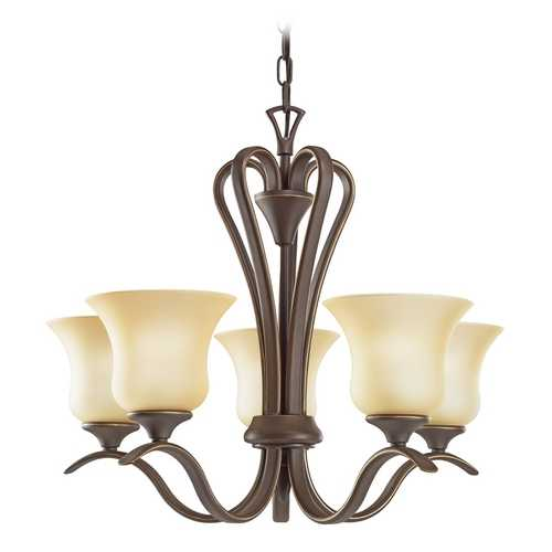 Kichler Lighting Kichler Chandelier with Beige / Cream Shades in Olde Bronze Finish 2085OZ