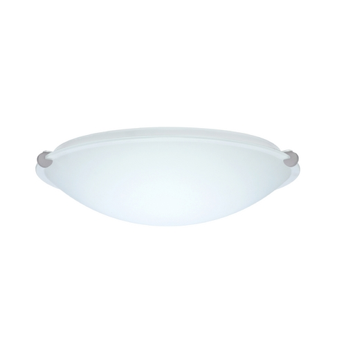 Besa Lighting Flushmount Light with White Glass in Satin Nickel Finish 968107-SN