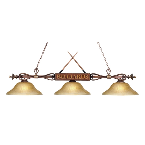 Elk Lighting Three-Light Billiard Light 194-WD-G6
