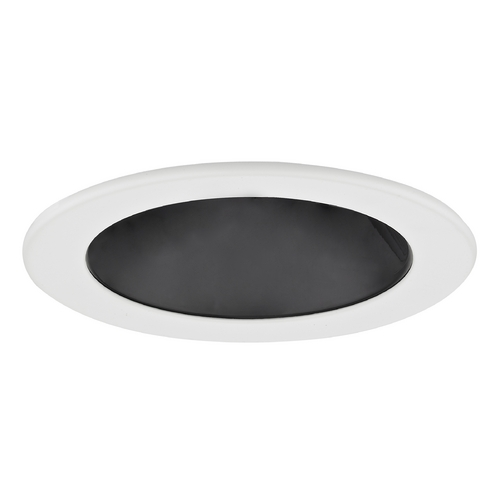 Recesso Lighting by Dolan Designs Black Adjustable Reflector LED GU10 Trim for 4-Inch Recessed Cans T401B-WH