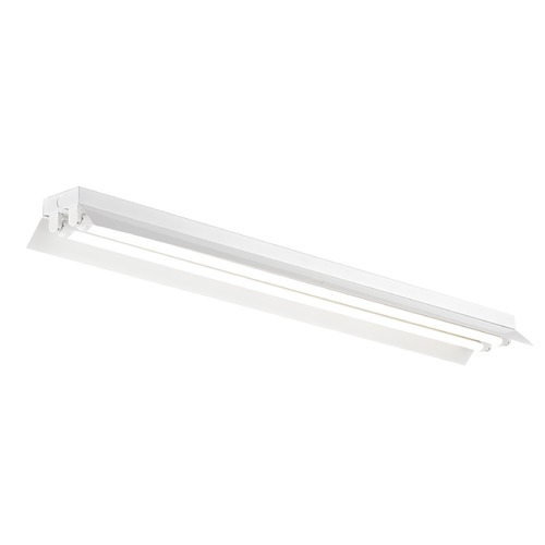 Recesso Lighting by Dolan Designs White Shop Light with Two Lights - 48-Inches Long SHOPLIGHT-48-2LT