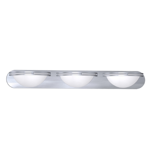 Access Lighting Access Lighting Aztec Brushed Steel Bathroom Light 20453GU-BS/WHT