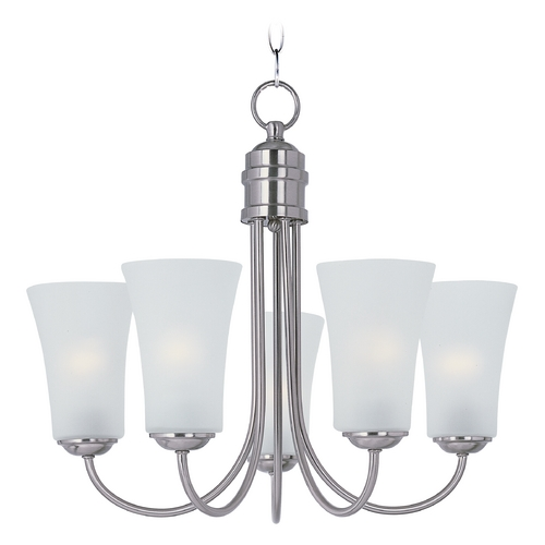 Maxim Lighting Maxim Lighting Logan Satin Nickel Chandelier 10045FTSN