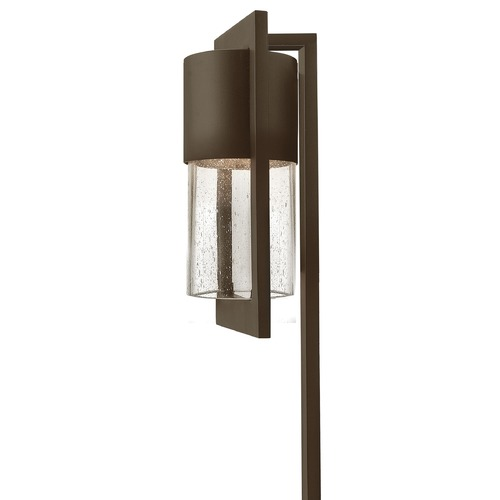 Hinkley Lighting Path Light with Clear Glass in Buckeye Bronze Finish 1547KZ