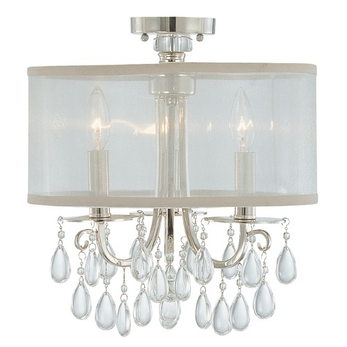 Crystorama Lighting Crystorama Lighting Hampton Polished Chrome Semi-Flushmount Light 5623-CH_CEILING