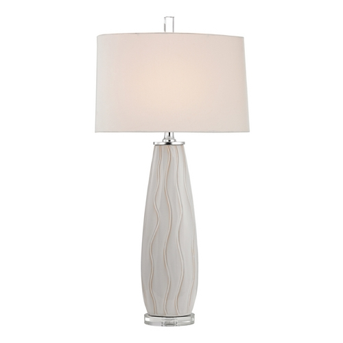 Dimond Lighting Table Lamp with White Shades in Washington White Finish D2452