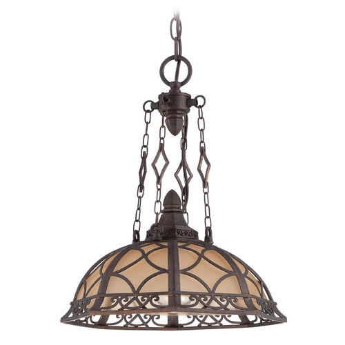 Jeremiah Lighting Jeremiah Lighting Evangeline Peruvian Bronze Pendant Light 36493-PR