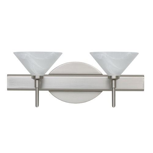 Besa Lighting Besa Lighting Kona Satin Nickel Bathroom Light 2SW-117652-SN