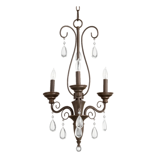 Quorum Lighting Quorum Lighting Vesta Oiled Bronze Mini-Chandelier 6001-3-86