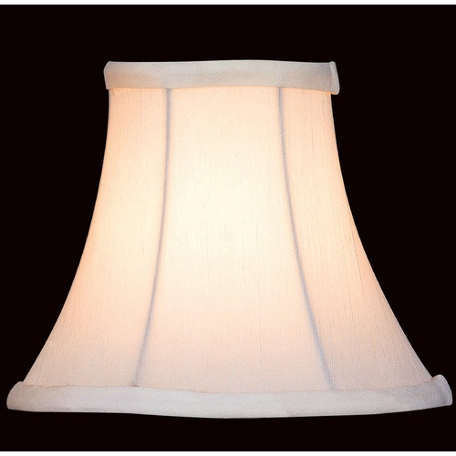 Lite Source Lighting White Bell Lamp Shade with Clip-On Assembly CH526-6/2PK