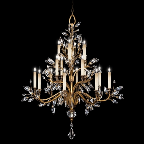 Fine Art Lamps Fine Art Lamps Crystal Laurel Gold Leaf Crystal Chandelier 773740ST