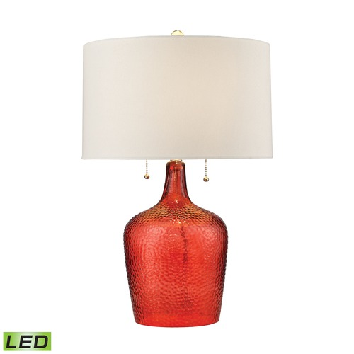 Dimond Lighting Dimond Lighting Blood Orange LED Table Lamp with Drum Shade D2690-LED