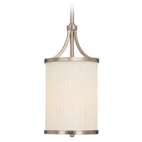 Capital Lighting Capital Lighting Fifth Avenue Winter Gold Mini-Pendant Light with Cylindrical Shade 4001WG-485