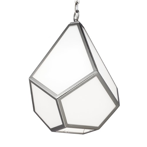Feiss Lighting Feiss Diamond Polished Nickel Pendant Light P1375PN