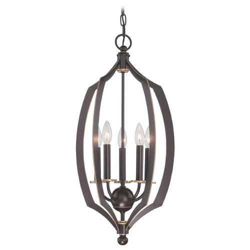 Minka Lavery Minka Middletown Downton Bronze with Gold Highlight Pendant Light 4372-579