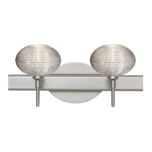 Besa Lighting Besa Lighting Lasso Satin Nickel LED Bathroom Light 2SW-5612GL-LED-SN