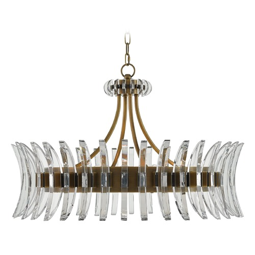 Currey and Company Lighting Currey and Company Coquette Antique Brass Pendant Light 9000-0014