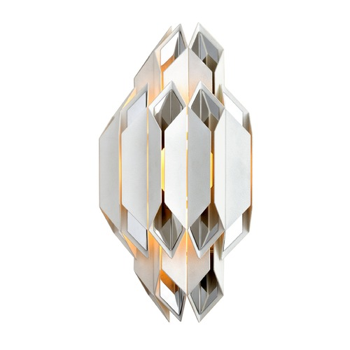 Corbett Lighting Corbett Lighting Haiku White with Polished Stainless Sconce 254-12