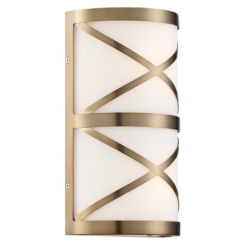 Nuvo Lighting Satco Lighting Sylph Burnished Brass Vertical Bathroom Light 60/6842
