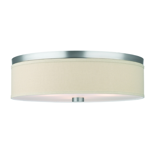 Philips Lighting Modern Flushmount Lights in Satin Nickel Finish F131936U
