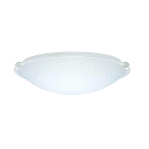 Besa Lighting Flushmount Light with White Glass in White Finish 968107-WH