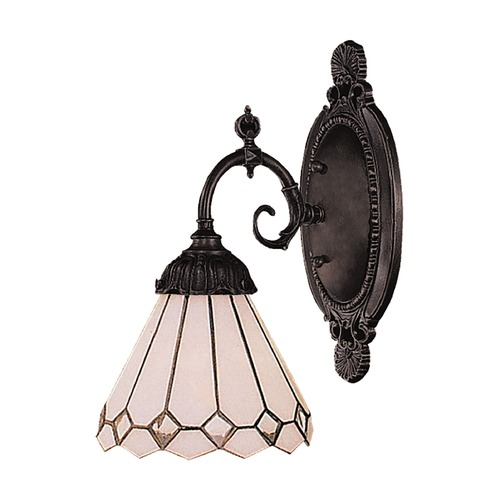 Elk Lighting Sconce with Tiffany Glass in Bronze Finish 071-TB-04