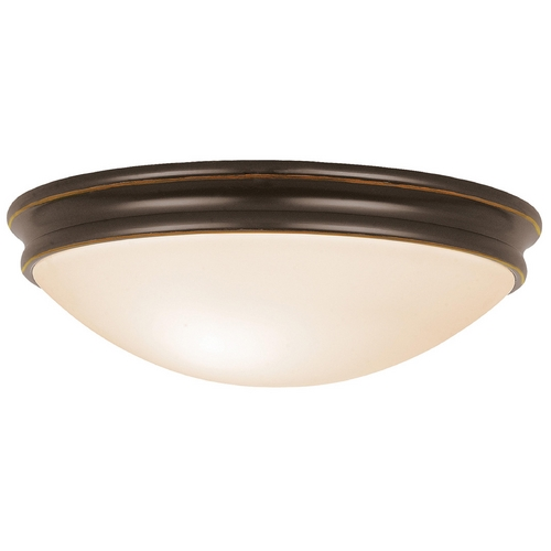 Access Lighting Modern Flushmount Light with White Glass in Oil Rubbed Bronze Finish 20726-ORB/OPL