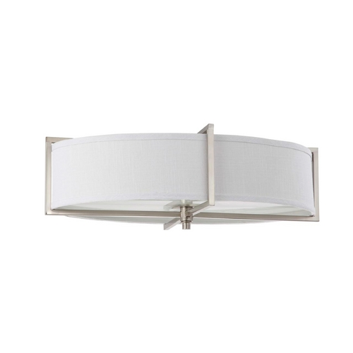 Nuvo Lighting Flushmount Light with Oval Shade in Brushed Nickel Finish 60/4349