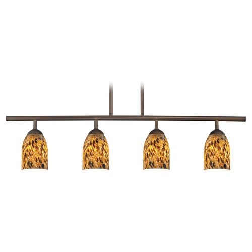 Design Classics Lighting Design Classics Axel Fuse Neuvelle Bronze Island Light with Bowl / Dome Shade 718-220 GL1005D