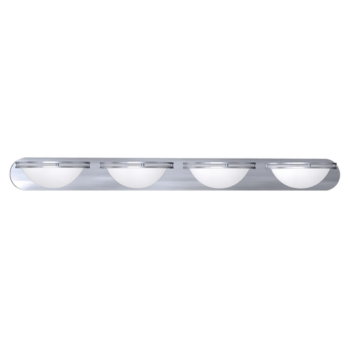 Access Lighting Access Lighting Aztec Brushed Steel Bathroom Light 20454GU-BS/WHT