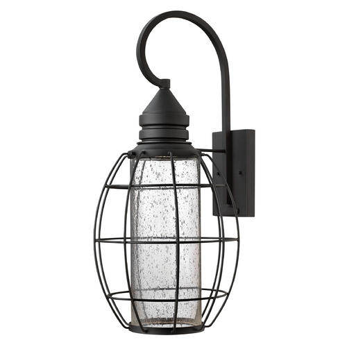 Hinkley Lighting Outdoor Wall Light with Clear Glass in Black Finish 2258BK