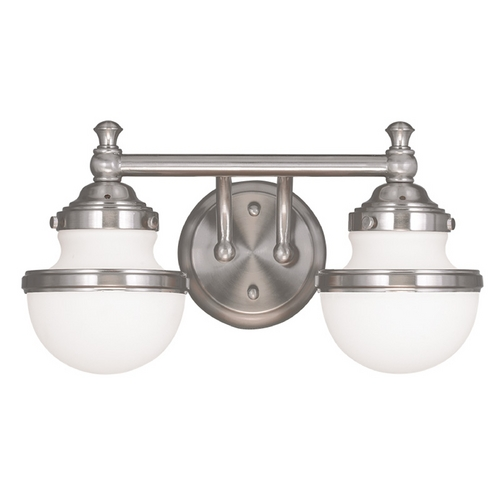 Livex Lighting Livex Lighting Oldwick Brushed Nickel Bathroom Light 5712-91