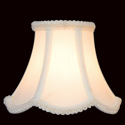 Lite Source Lighting White Scalloped Lamp Shade with Clip-On Assembly CH527-6/2PK