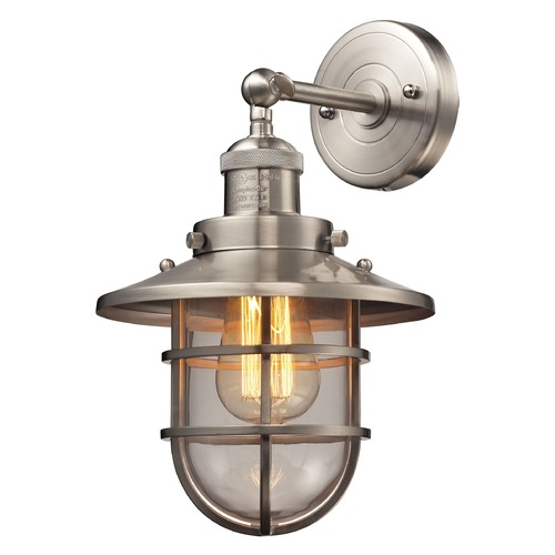 Elk Lighting Elk Lighting Seaport Satin Nickel Sconce 66356/1