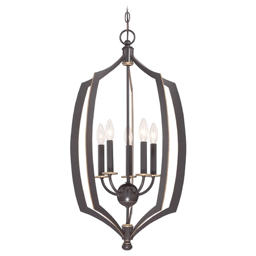 Minka Lavery Minka Middletown Downton Bronze with Gold Highlight Pendant Light 4373-579