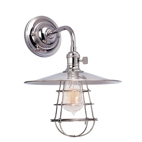 Hudson Valley Lighting Hudson Valley Lighting Heirloom Polished Nickel Sconce 8000-PN-MS1-WG
