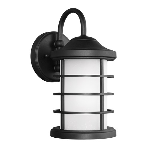 Sea Gull Lighting Sea Gull Sauganash Black Outdoor Wall Light 8524451-12
