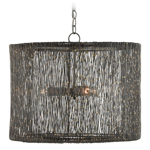 Currey and Company Lighting Currey and Company Nigel Natural Iron / Brass Pendant Light 9000-0015