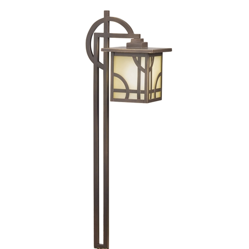 Kichler Lighting Kichler Path Light with White Glass in Olde Bronze Finish 15444OZ