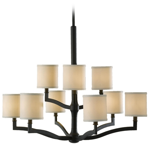 Feiss Lighting Modern Chandeliers in Oil Rubbed Bronze Finish F2520/6+3ORB