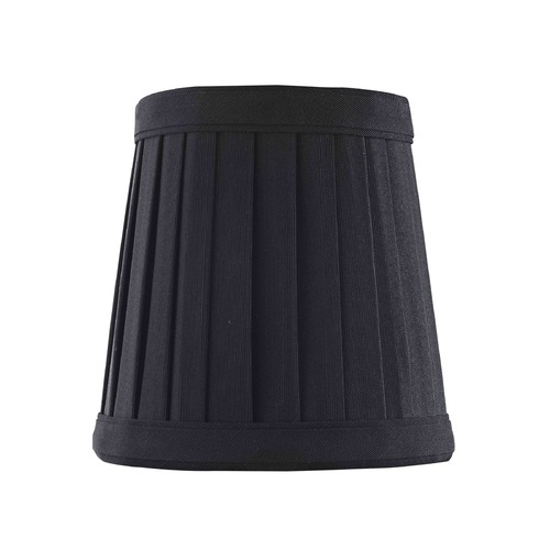 Design Classics Lighting Clip-On Empire Pleated Black Lamp Shade SH9617