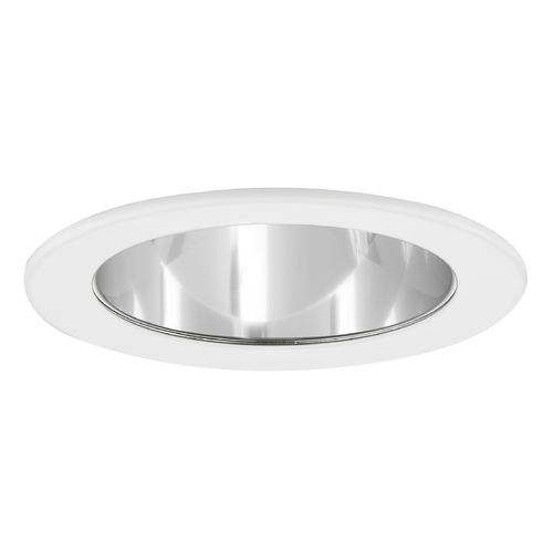 Recesso Lighting by Dolan Designs Clear Adjustable Reflector LED GU10 Trim for 4-Inch Recessed Cans T401C-WH
