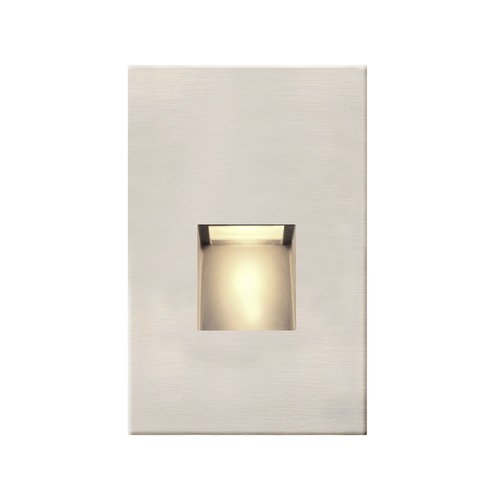 Recesso Lighting by Dolan Designs Satin Nickel LED Recessed Step Light 2700K 20 Lumens STEPLT01-SN