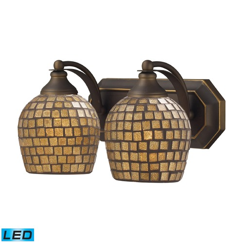 Elk Lighting Elk Lighting Bath and Spa Aged Bronze LED Bathroom Light 570-2B-GLD-LED