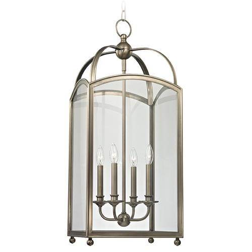 Hudson Valley Lighting Millbrook 4 Light Pendant Light Square Shade - Historic Nickel 8414-HN