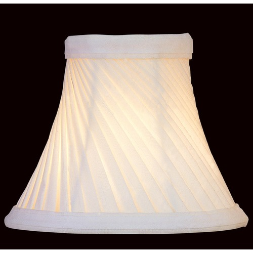 Lite Source Lighting Pleated White Bell Lamp Shade with Clip-On Assembly CH528-6/2PK