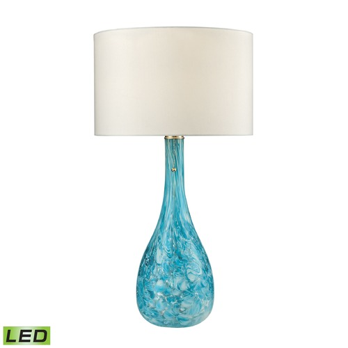 Dimond Lighting Dimond Lighting Seafoam LED Table Lamp with Drum Shade D2691-LED