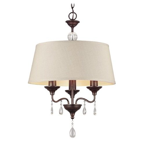 Sea Gull Lighting Sea Gull Lighting West Town Burnt Sienna Mini-Chandelier 3110503-710