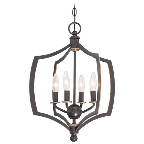 Minka Lavery Minka Middletown Downton Bronze with Gold Highlight Pendant Light 4374-579